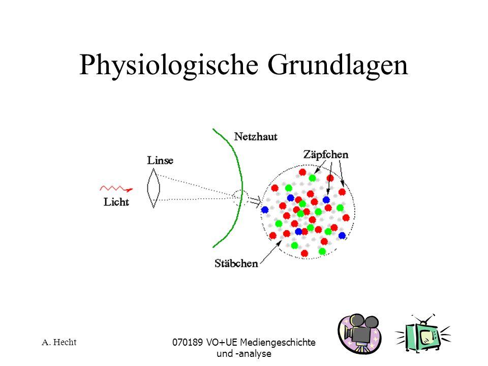 A. Hecht070189 VO+UE Mediengeschichte und -analyse Physiologische Grundlagen