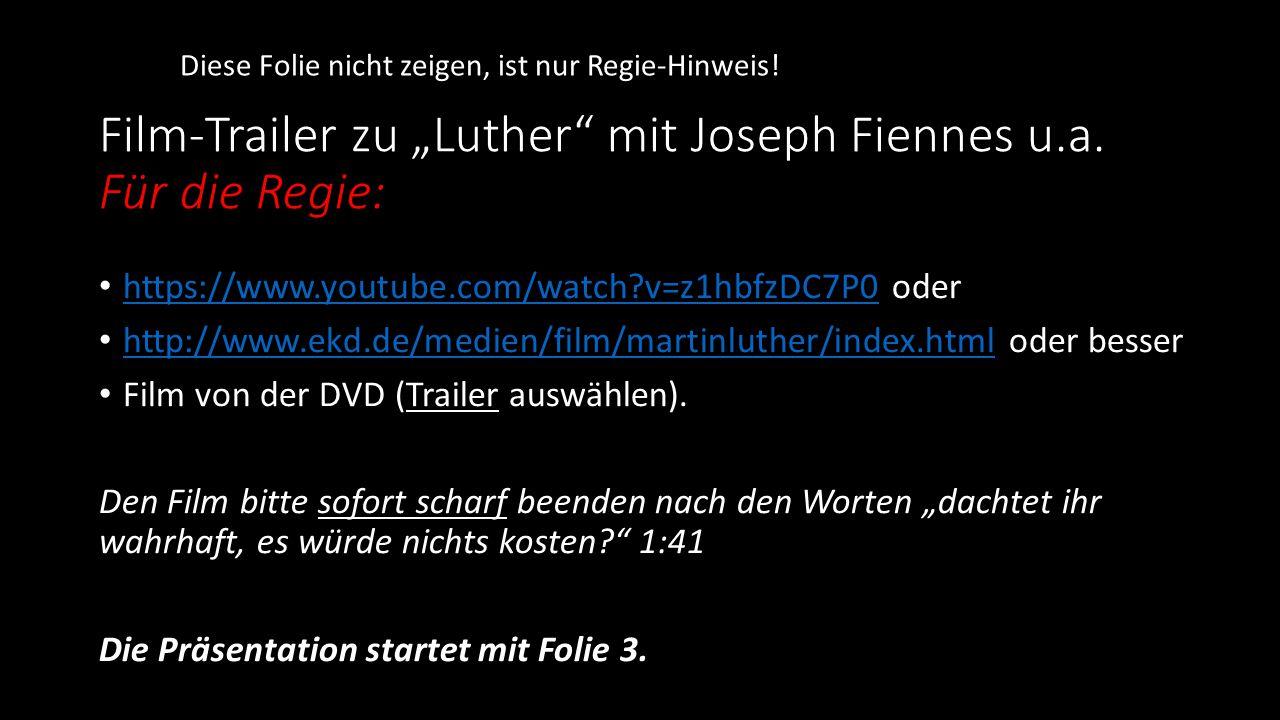"""Film-Trailer zu """"Luther"""" mit Joseph Fiennes u.a. Für die Regie: https://www.youtube.com/watch?v=z1hbfzDC7P0 oder https://www.youtube.com/watch?v=z1hbf"""