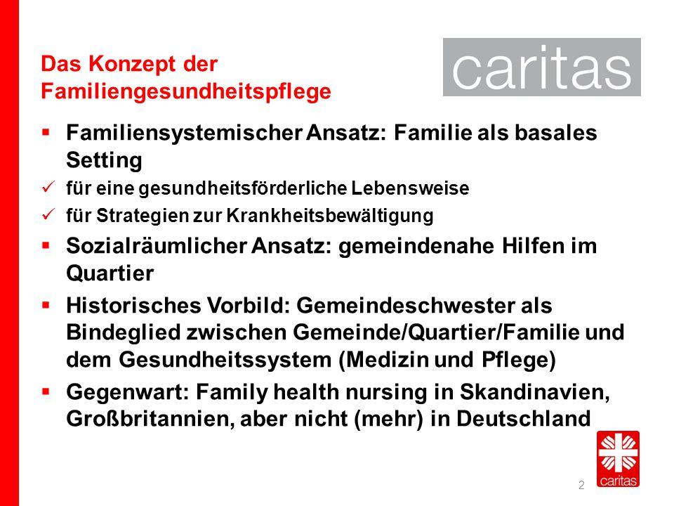 Das Konzept der Familiengesundheitspflege  Familiensystemischer Ansatz: Familie als basales Setting für eine gesundheitsförderliche Lebensweise für S