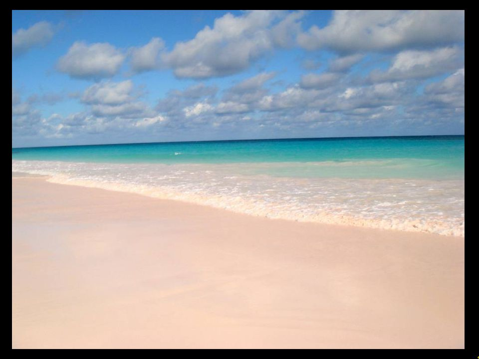 3 Pink Sand Beach, Pink Sands in The Bahamas Pinkfabener Sandstrand, Pinkfabener Sand auf den Bahamas