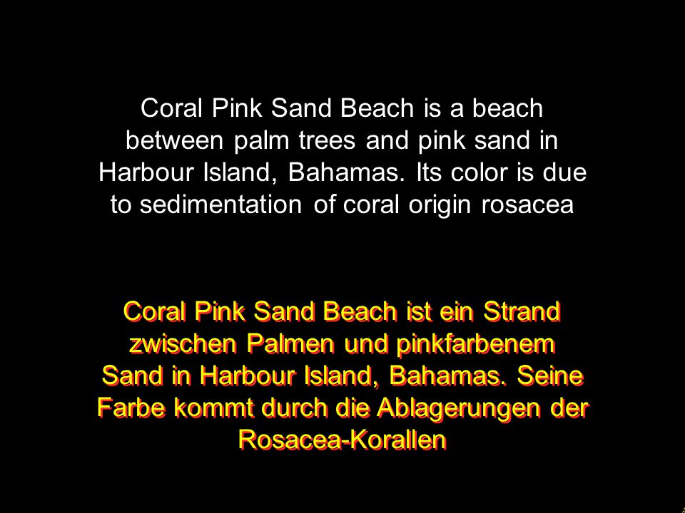 5 Coral Pink Sand Beach is a beach between palm trees and pink sand in Harbour Island, Bahamas.