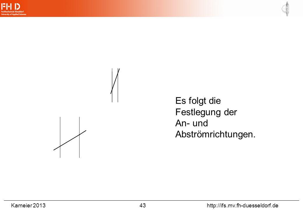 Kameier 2013 43 http://ifs.mv.fh-duesseldorf.de Es folgt die Festlegung der An- und Abströmrichtungen.
