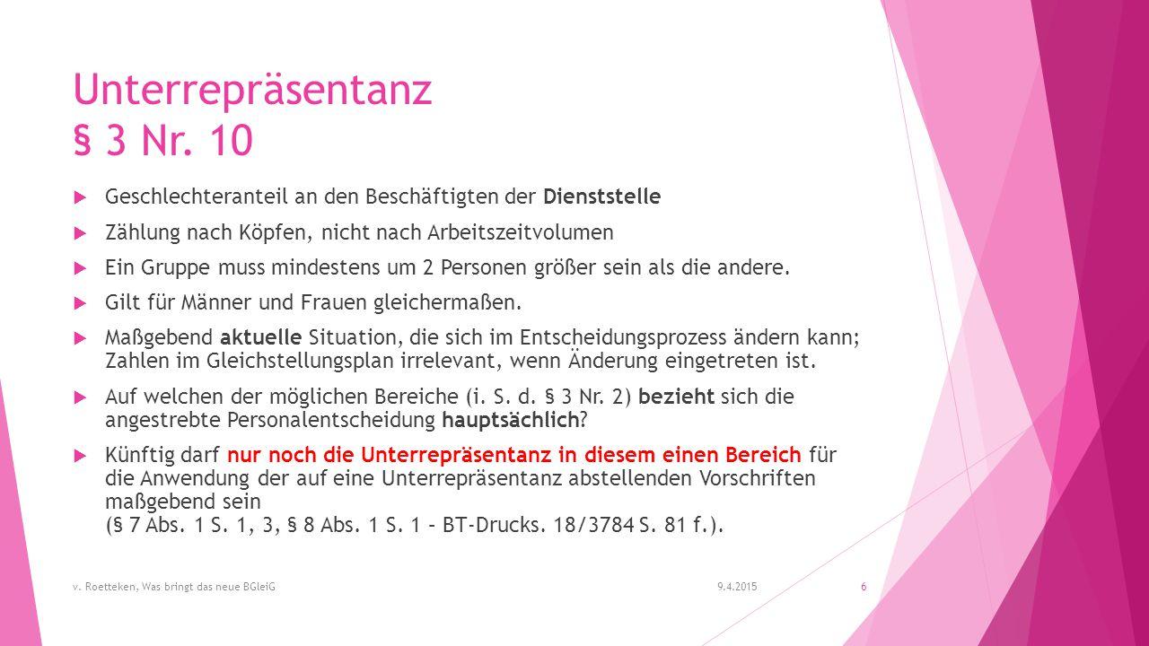 Unterrepräsentanz § 3 Nr.