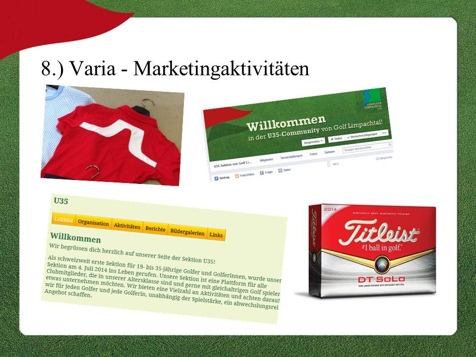 8.) Varia - Marketingaktivitäten