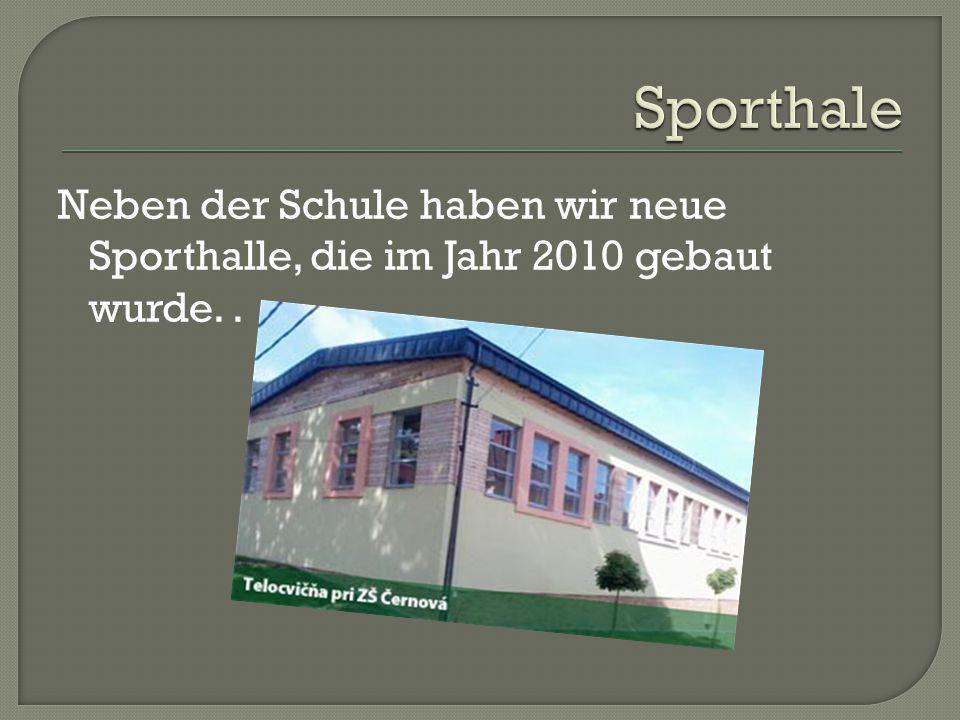 Neben der Schule haben wir neue Sporthalle, die im Jahr 2010 gebaut wurde..