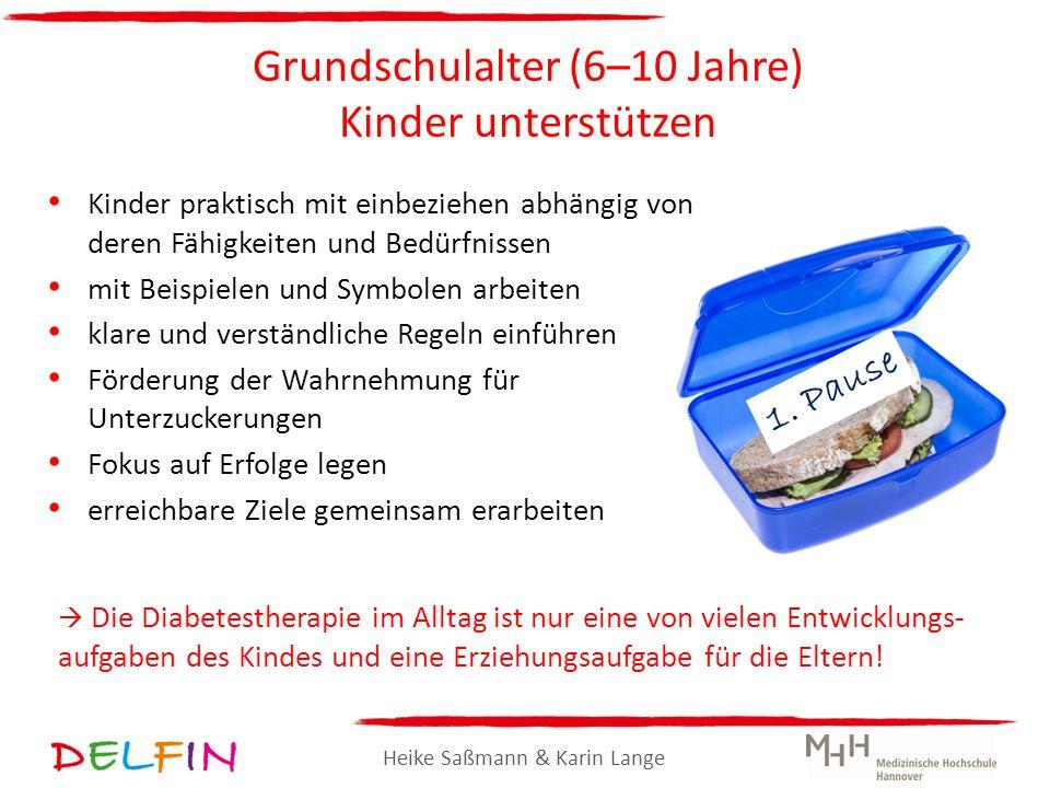 Heike Saßmann & Karin Lange Grundschulalter (6–10 Jahre) Kinder unterstützen Kinder praktisch mit einbeziehen abhängig von deren Fähigkeiten und Bedür