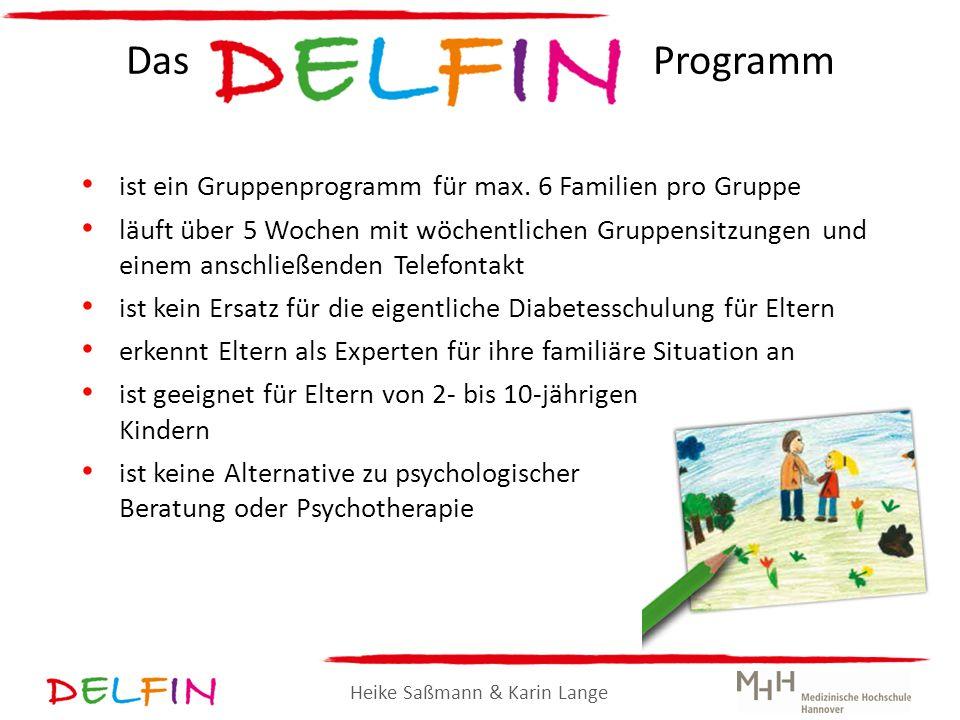 Heike Saßmann & Karin Lange Das Programm ist ein Gruppenprogramm für max. 6 Familien pro Gruppe läuft über 5 Wochen mit wöchentlichen Gruppensitzungen
