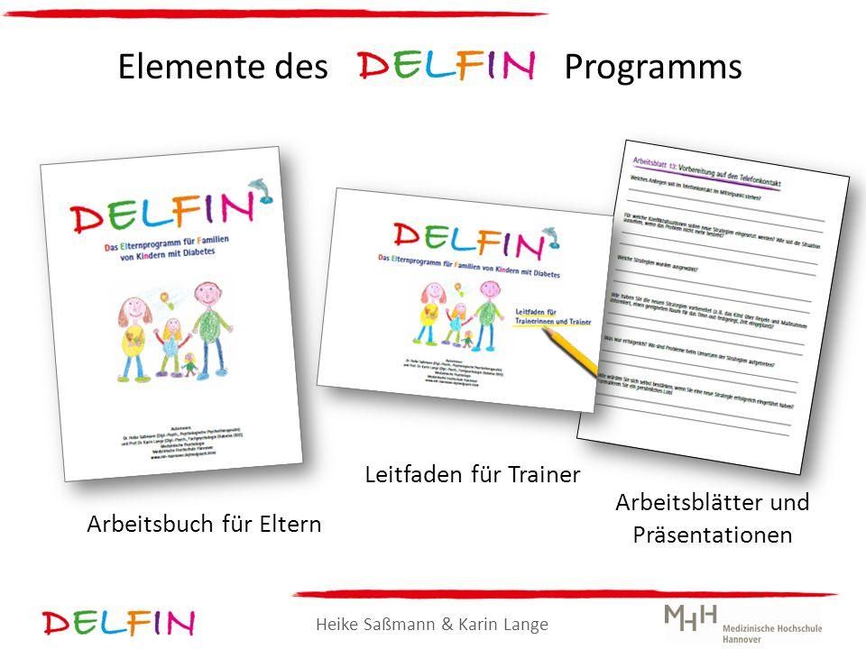 Heike Saßmann & Karin Lange Elemente des Programms Arbeitsbuch für Eltern Leitfaden für Trainer Arbeitsblätter und Präsentationen