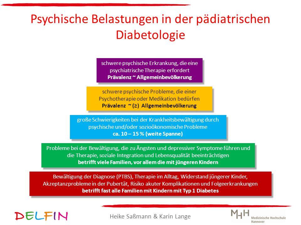 Heike Saßmann & Karin Lange Psychische Belastungen in der pädiatrischen Diabetologie schwere psychische Erkrankung, die eine psychiatrische Therapie e