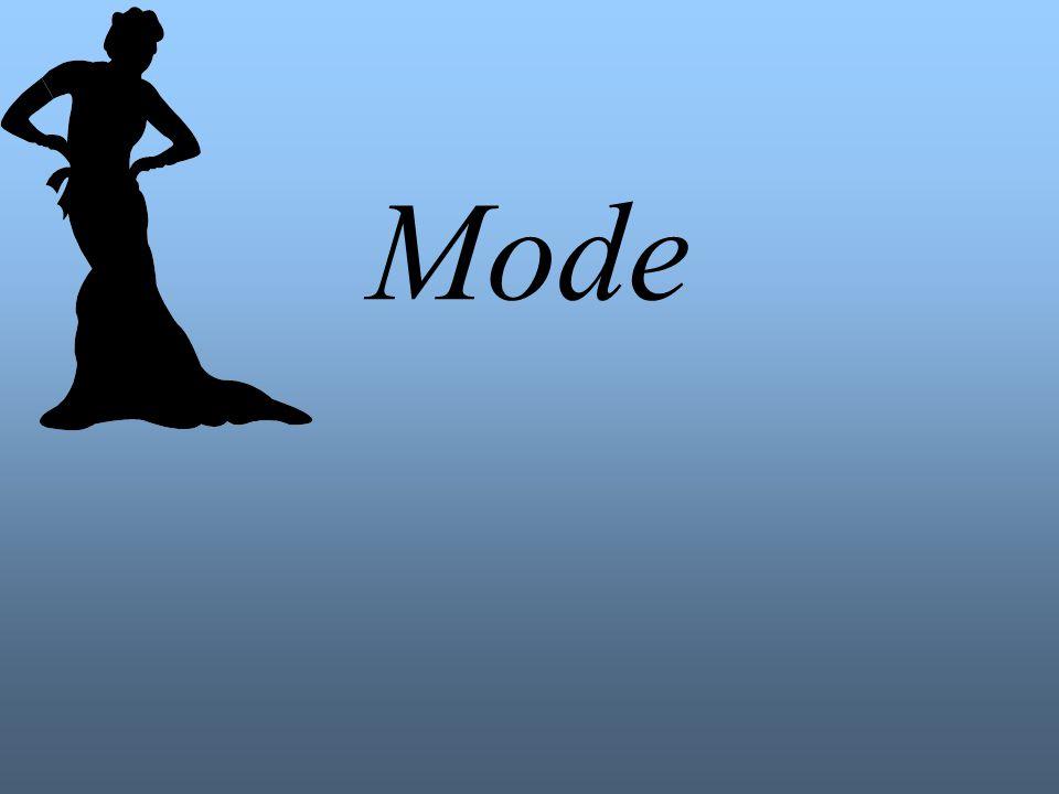 Die Mode- Definition Mode kommt aus dem Französischen und stammt vom lat.