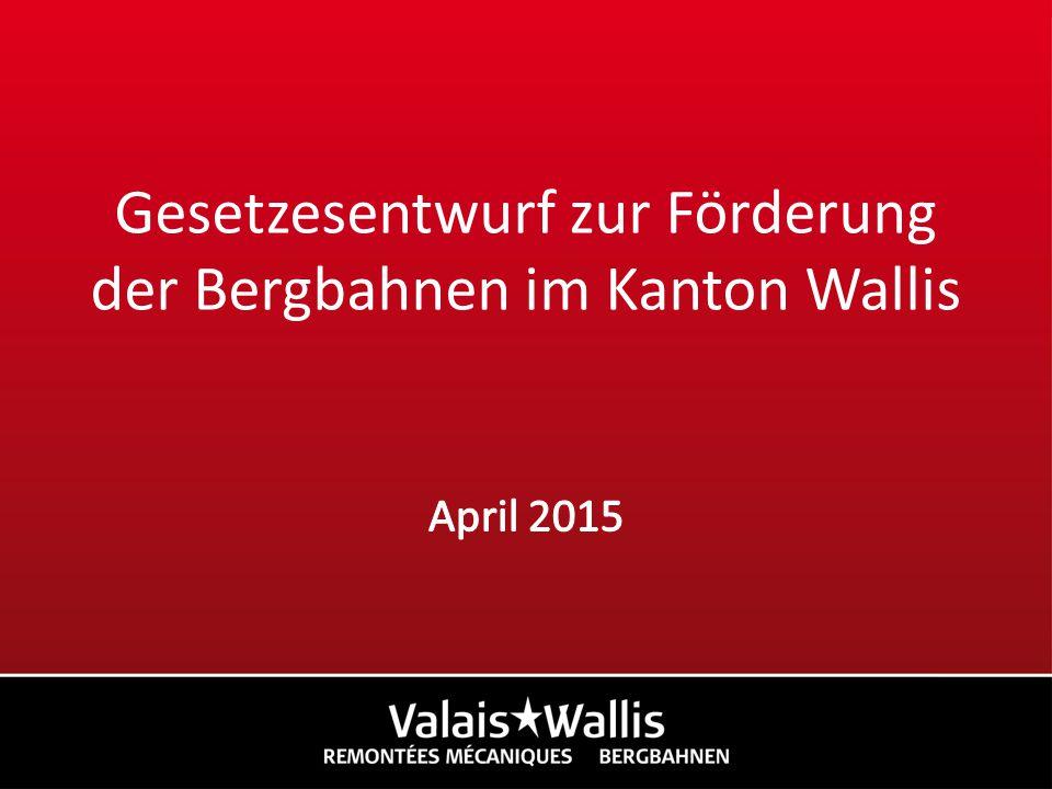 1.Einführung 2. Die Situation der Bergbahnen im Kanton Wallis 3.