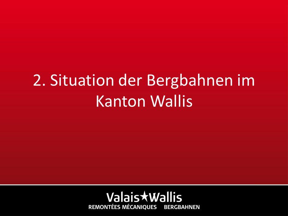 2. Situation der Bergbahnen im Kanton Wallis