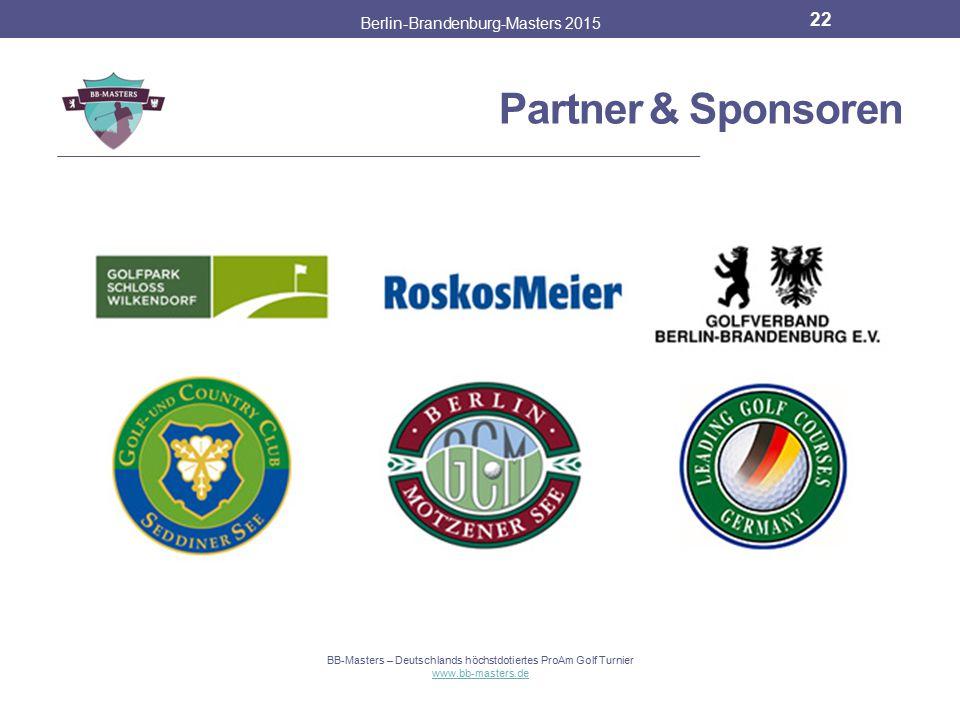 Partner & Sponsoren Berlin-Brandenburg-Masters 2015 21 BB-Masters – Deutschlands höchstdotiertes ProAm Golf Turnier www.bb-masters.de Der Solheim Cup