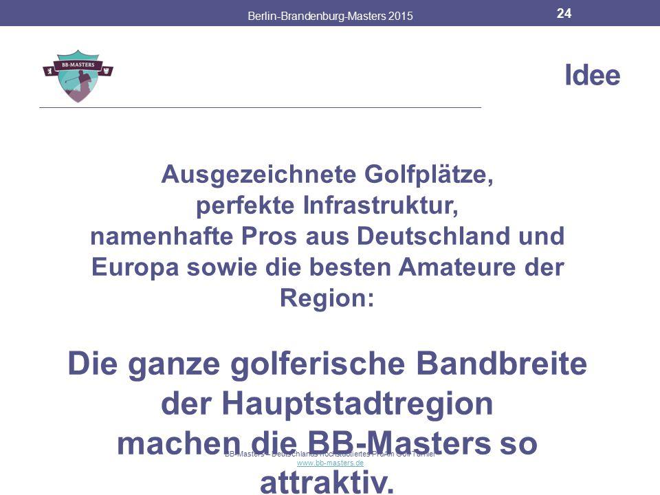 Partner & Sponsoren Berlin-Brandenburg-Masters 2015 23 BB-Masters – Deutschlands höchstdotiertes ProAm Golf Turnier www.bb-masters.de