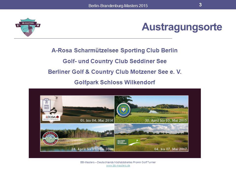 Philosophie Berlin-Brandenburg-Masters 2015 2 Vier golfbegeisterter Akteure Gesamtpreisgeld von 100.000 Euro Potential des Golfsports in Berlin-Brande