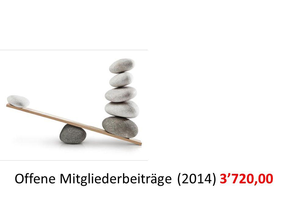 Offene Mitgliederbeiträge (2014)3'720,00