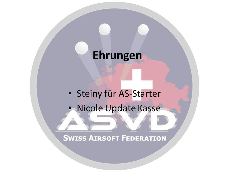 Ehrungen Steiny für AS-Starter Nicole Update Kasse