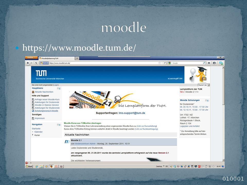 https://www.moodle.tum.de/ 010001