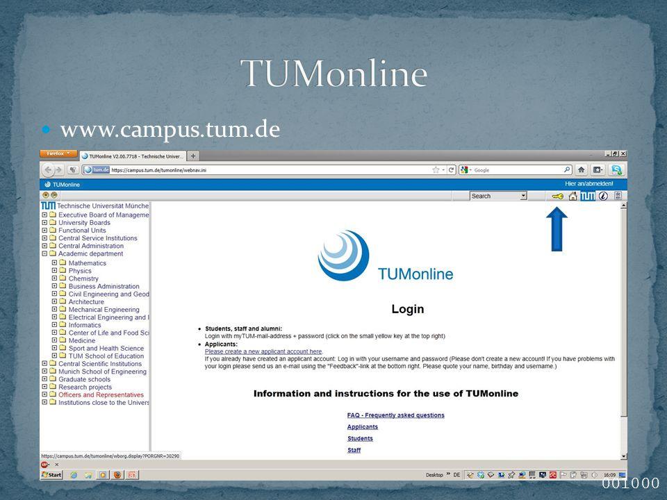 www.campus.tum.de 001000