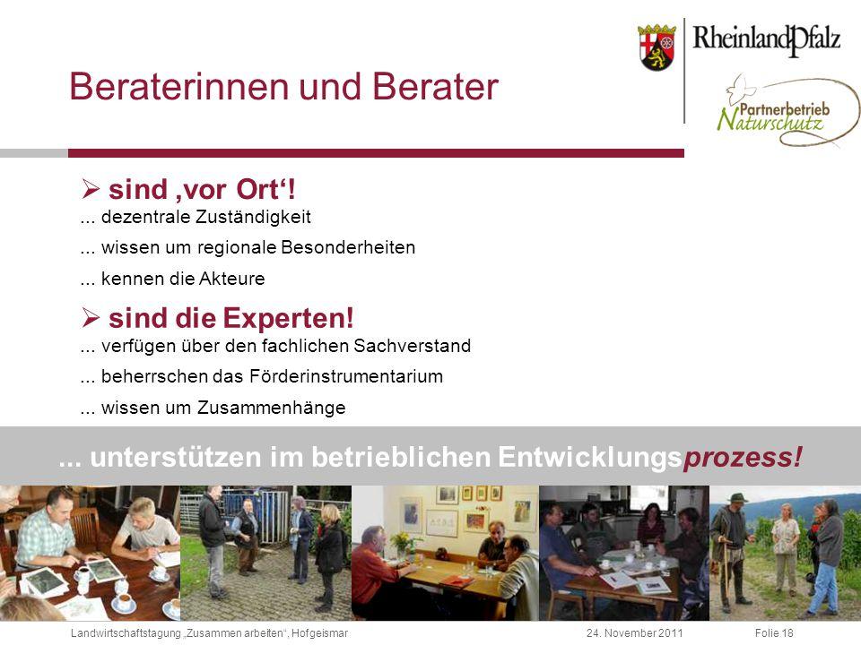 """Folie 1824. November 2011Landwirtschaftstagung """"Zusammen arbeiten , Hofgeismar..."""