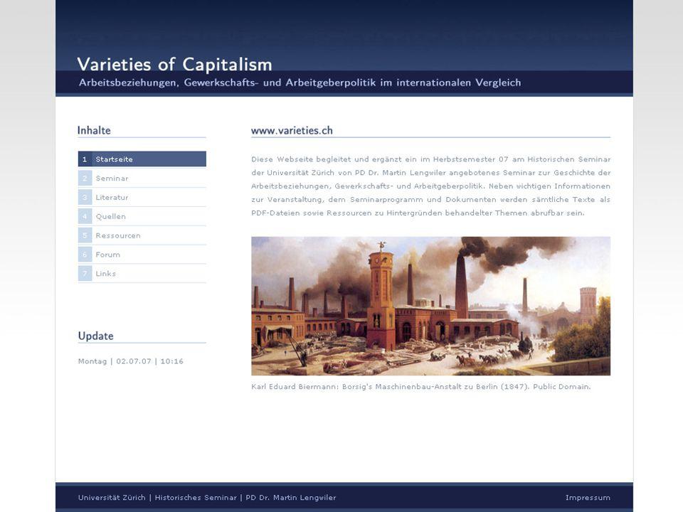 www.varieties.ch Varieties of Capitalism Einführung in das Forum Caspar Meili21