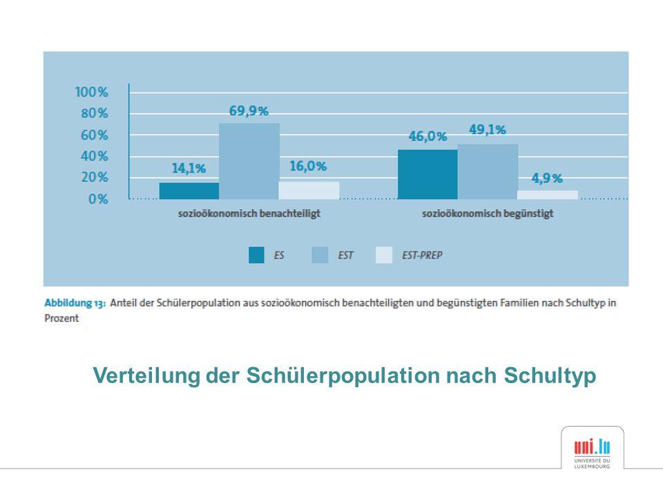 Verteilung der Schülerpopulation nach Schultyp