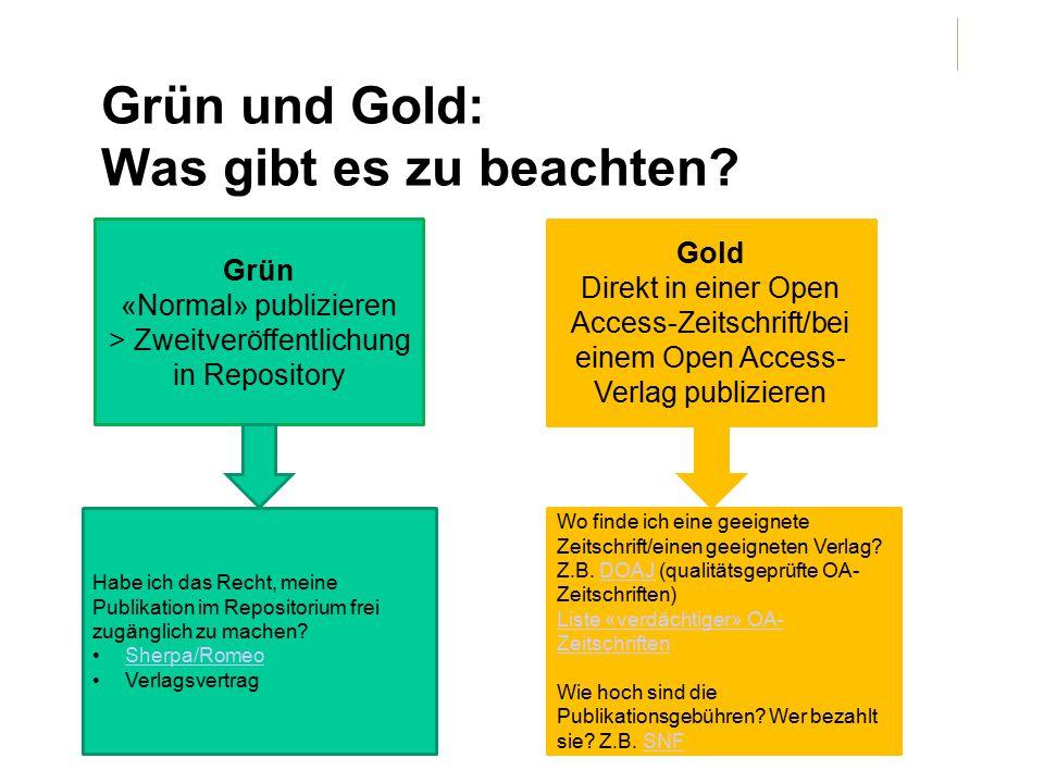 Grün und Gold: Was gibt es zu beachten.