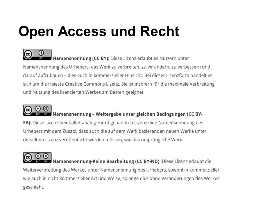 Open Access und Recht