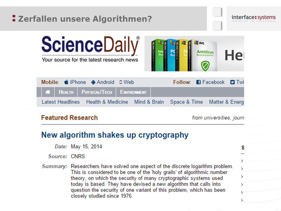 Zerfallen unsere Algorithmen?