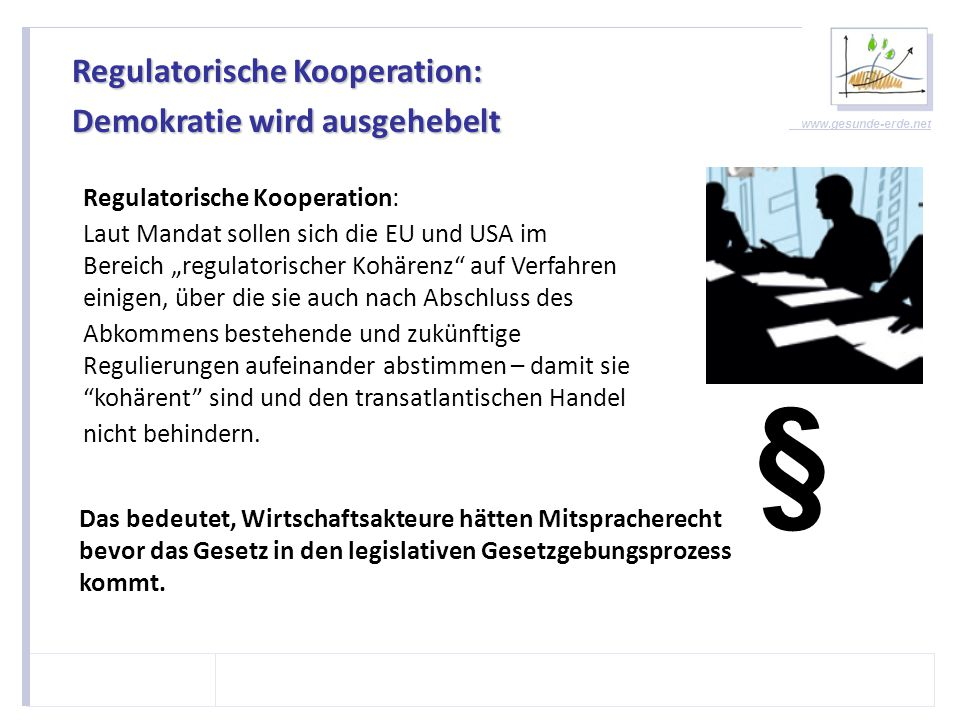 www.gesunde-erde.net Ende des Vorsorgeprinzips.
