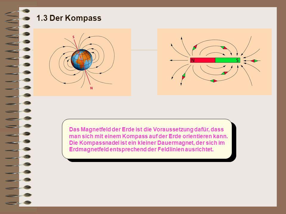 Das Magnetfeld der Erde ist die Voraussetzung dafür, dass man sich mit einem Kompass auf der Erde orientieren kann. Die Kompassnadel ist ein kleiner D