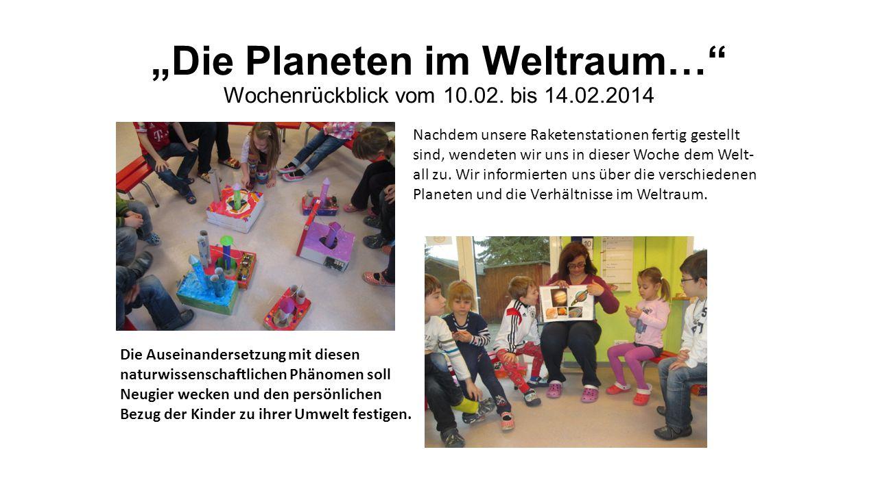"""""""Die Planeten im Weltraum… Wochenrückblick vom 10.02."""