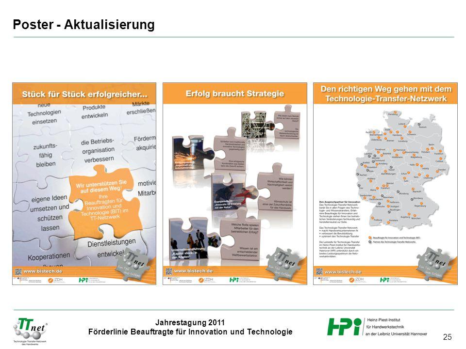 25 Jahrestagung 2011 Förderlinie Beauftragte für Innovation und Technologie Poster - Aktualisierung