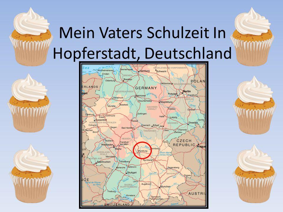 Mein Vaters Schulzeit In Hopferstadt, Deutschland