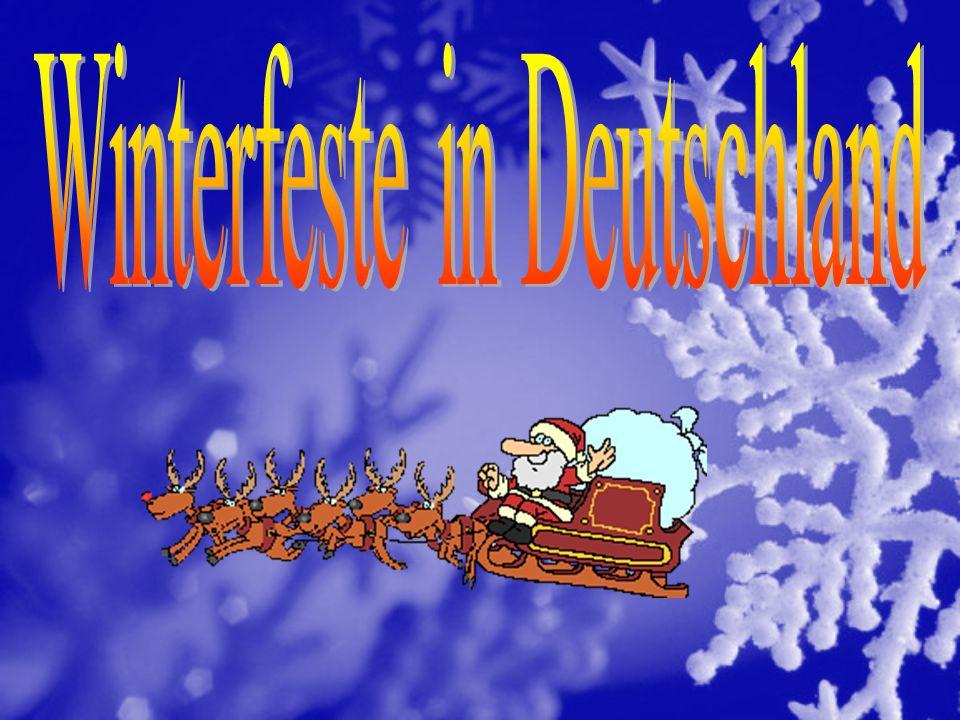 Welche Winterfeste sind das? 1.Der Nikolaustag 2.Das Neujahr 4.der Advent 3.die Weihnachten
