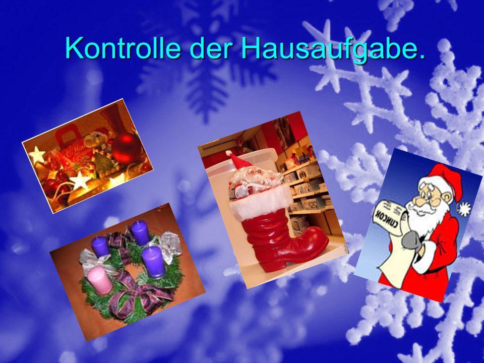 Arbeit an der Lexik und Grammatik Zum unsere Thema : Winterfeste in Deutschland .