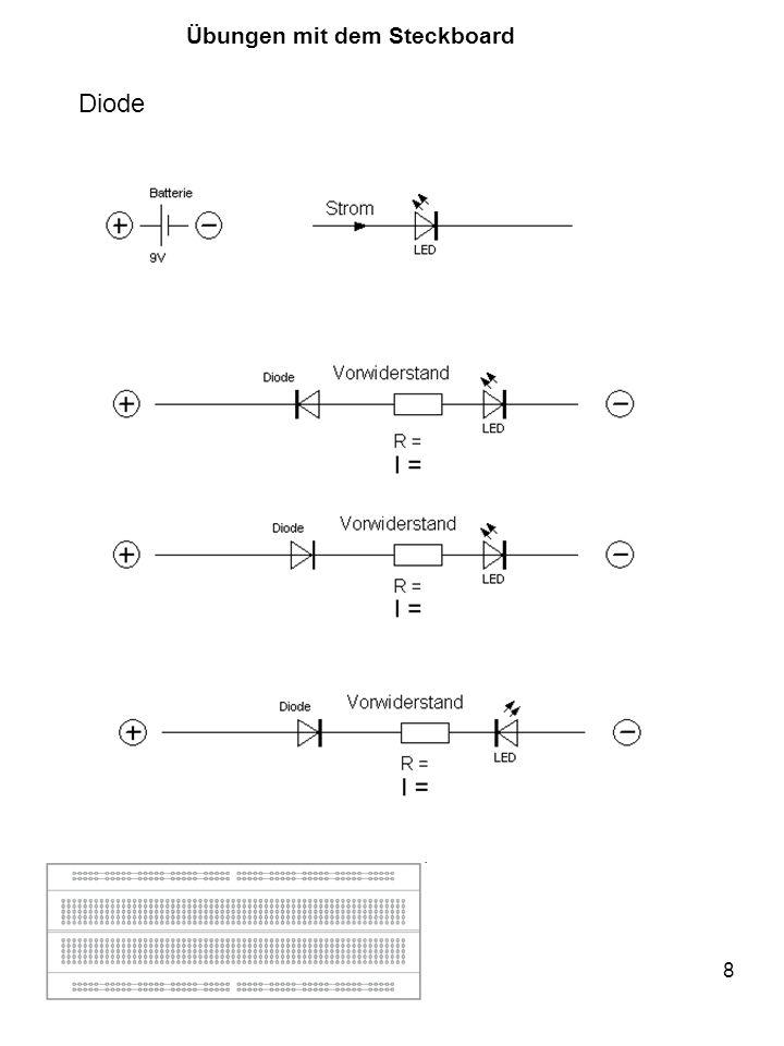 9 Transistor Messen mit dem Ohmmeter: Farben vertauschen.