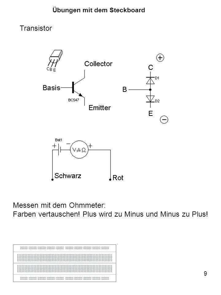 10 Transistor Übungen mit dem Steckboard