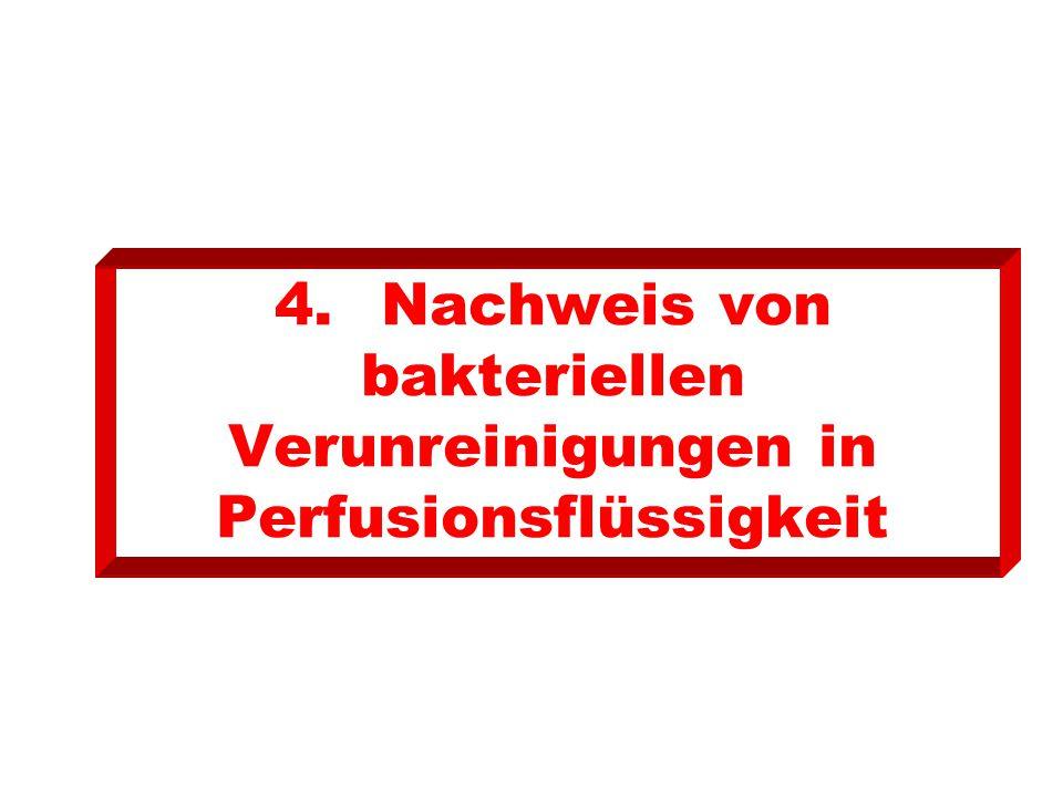 4.Nachweis von bakteriellen Verunreinigungen in Perfusionsflüssigkeit