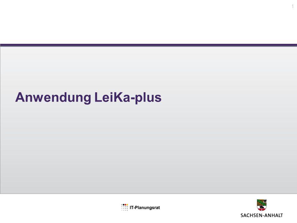 Anwendung LeiKa-plus 1