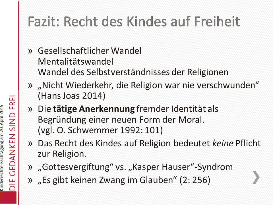 """» Gesellschaftlicher Wandel Mentalitätswandel Wandel des Selbstverständnisses der Religionen » """"Nicht Wiederkehr, die Religion war nie verschwunden"""" ("""