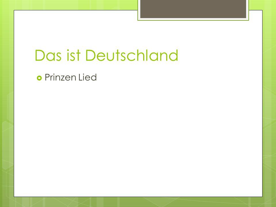 Das ist Deutschland  Prinzen Lied