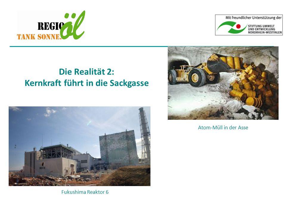 Fukushima Reaktor 6 Die Realität 2: Kernkraft führt in die Sackgasse Atom-Müll in der Asse
