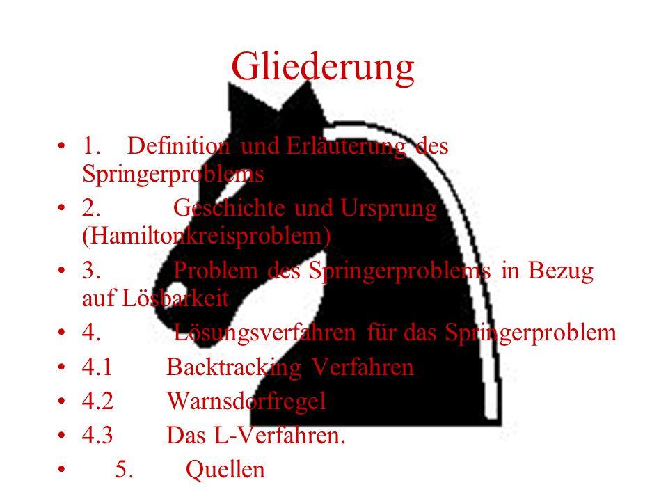 Gliederung 1.Definition und Erläuterung des Springerproblems 2.