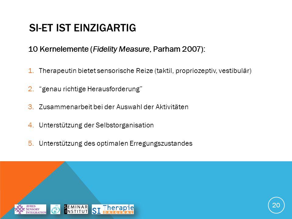 SI-ET IST EINZIGARTIG 10 Kernelemente (Fidelity Measure, Parham 2007): 6.