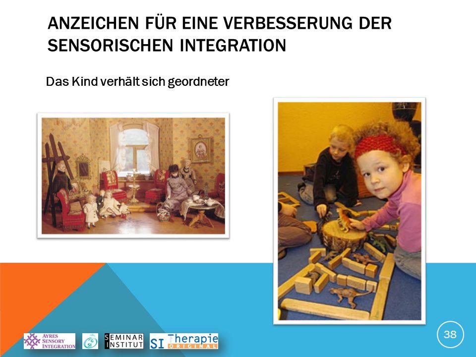 ANZEICHEN FÜR EINE VERBESSERUNG DER SENSORISCHEN INTEGRATION Das Kind hat mehr Freude an Bewegung 39