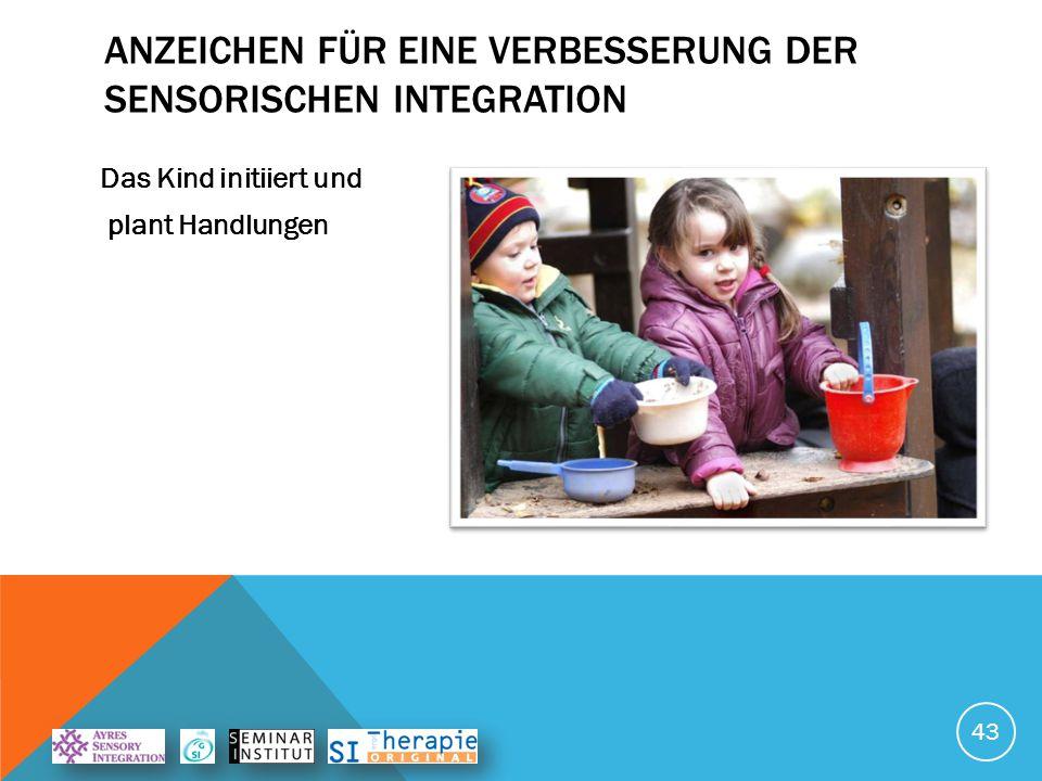 ANZEICHEN FÜR EINE VERBESSERUNG DER SENSORISCHEN INTEGRATION Das Kind variiert seine Aktivitäten 44