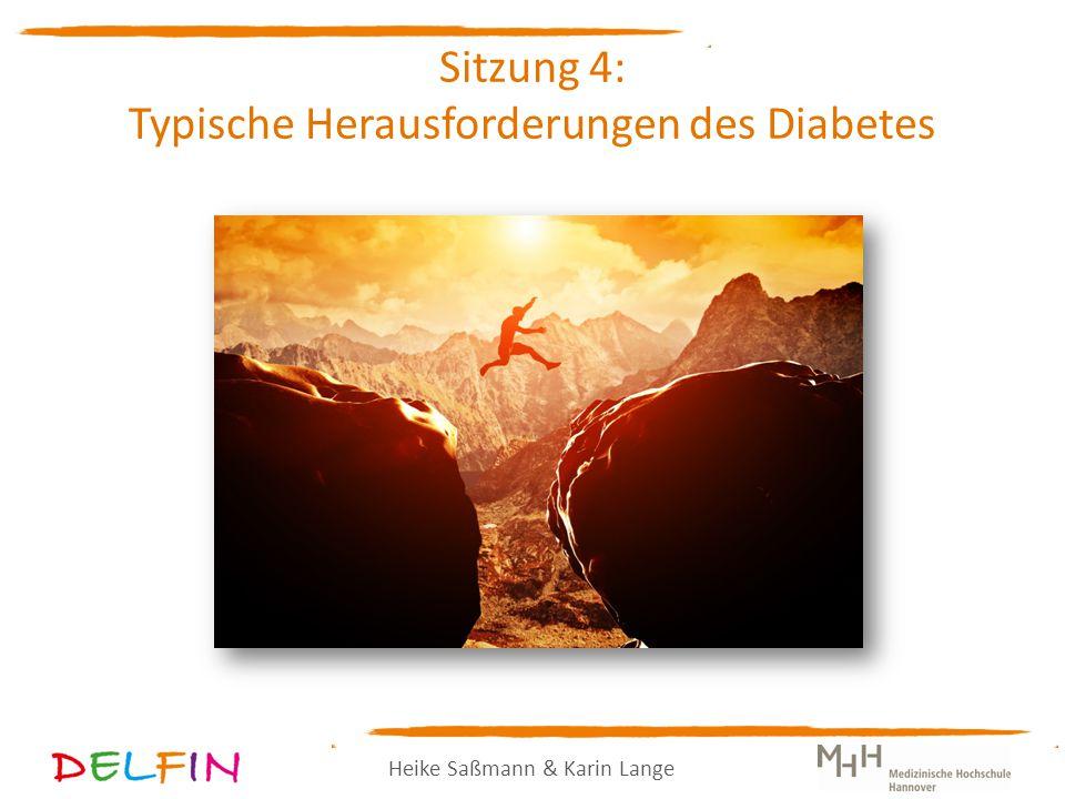 Heike Saßmann & Karin Lange Sitzung 4: Typische Herausforderungen des Diabetes