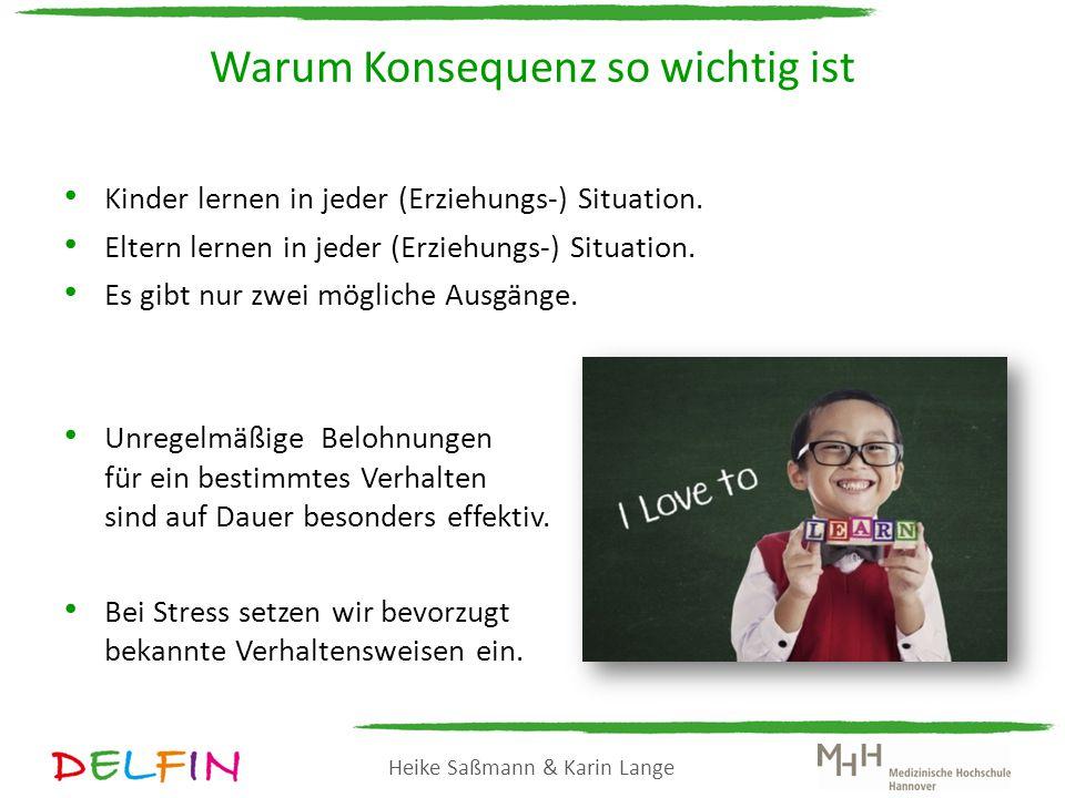Heike Saßmann & Karin Lange Das A-B-C Schema Bitte beschreiben Sie eine Situation, in der Sie sich häufiger über Ihr Kind ärgern.
