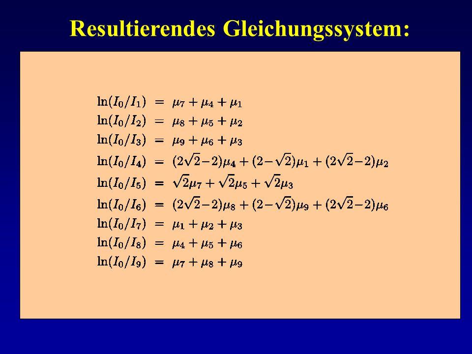 Resultierendes Gleichungssystem: